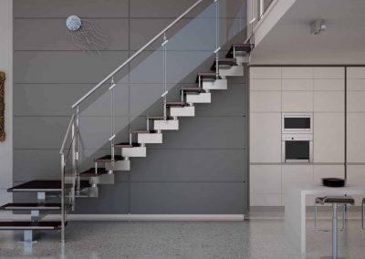 escaleras de una casa hechas en metacrilato