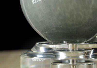 esfera decoracion hecha en metacrilato